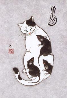 Искусство татуировки якудза... по-кошачьи
