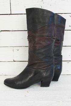 Vintage Hogl laarzen met gekleurd leer.... fiet fiew!!! www.sugarsugar.nl