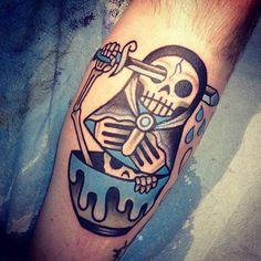 Sugar Skull tattoo by Destroy Troy. #inked #inkedmag #tattoo #skull #sugarskull #ink #art