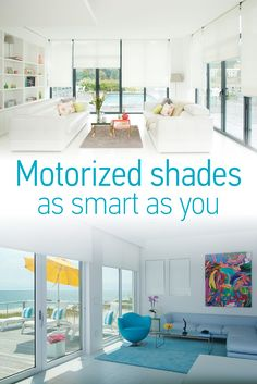 Learn about how motorized blinds and shades can save you energy, time, and money! Plus control your shades from your smartphone with Somfy's myLink app! #Home