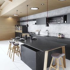 A stunning black kitchen designed by @cosentinona  . Good night all! . #kitchen #kitchendesign #nordichome #nordicinspiration