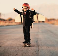 ... little skater | I like the way this kid thinks!