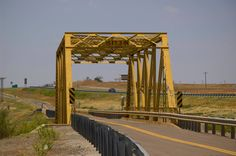 """In Elk City, Oklahoma, this truss bridge is on the """"frontage"""" road which is actually a stretch of the original alignment of Route 66."""