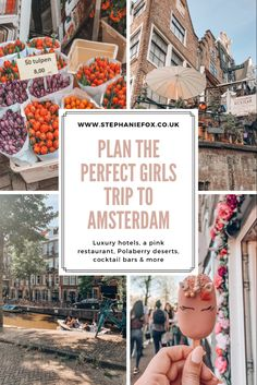 Looking for a luxury girls getaway to Amsterdam? This guide explains where to stay, beautiful hotels, the best restaurants including the famous pink Mama Kelly's, where to find unicorn smoothie bowls in Amsterdam's Nine Streets, cocktail bars with rooftop terraces overlooking Amsterdam, and of course Polaberry cake pop shop on Prinsengracht, Amsterdam's prettiest canal. #amsterdam #amsterdamnetherlands #amsterdamtraveltips #girlsweekend #luxurytravel #citybreak Amsterdam Sights, Visit Amsterdam, Amsterdam Travel, Beautiful Places To Travel, Beautiful Hotels, Pink Restaurant, Christmas Destinations, European City Breaks, Luxury Girl