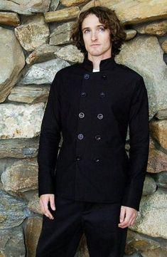 perfk Uomo Donna Cuoco Chef T-shirt Giacca Cappotto Top Uniforme da Lavoro Hotel Ristorazione Cucina