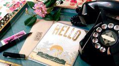 Hello Sunshine, gold pressed greeting card