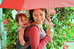 Babywearing makes you happy!! Beautiful babywearing. Mama Ariel is wearing her baby in a Didymos Orient wrap in a double hammock carry. Photography by Alanna Westfall: http://www.facebook.com/AlannaWestfallPhotography