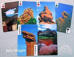 Garden of the Gods playing cards by Julia Wright Colorado, Playing Cards, Garden, Artist, Blog, Gifts, Garten, Playing Card Games, Gardening