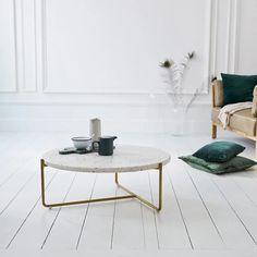 Table basse en métal et terrazzo 80 cm - Mobilier de salon - Tikamoon