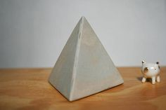 Pyramid Stoneware. Soft Marble Effect. Egyptian Statue