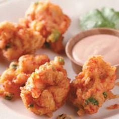 Crawfish Beignets with Cajun Dipping Sauce Recipe