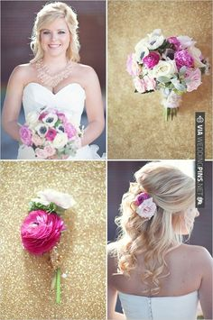 pink wedding bouquet | VIA #WEDDINGPINS.NET