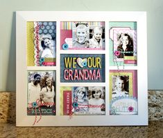 Fun gift for Grandma! Photo collage frame.