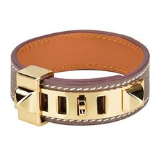 Farsiny Women's Punk Style Genuine Leather Bracelets (Grey) -- You can get additional details at the image link.
