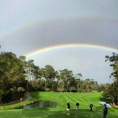 Double Rainbow at Spyglass Golf Course