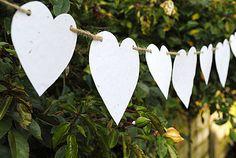 Wildflower Wedding Paper Heart Bunting the gifted penguin - Wedding Paper, Diy Wedding, Handmade Wedding, Paper Wedding Decorations, Wedding Venues, Perfect Wedding, Rustic Wedding, Wedding Ideas, Anniversary Parties