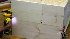 How to build a wood storage cabinet in 9 steps - simply handmade studios Diy Projects Plans, Wood Shop Projects, Diy Furniture Projects, Woodworking Projects Diy, Backyard Projects, Furniture Plans, Diy Wood Shelves, Garage Storage Cabinets, Laundry Room Remodel