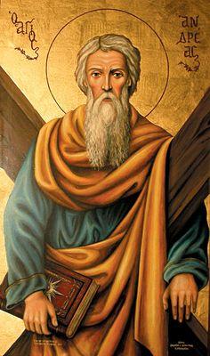 Andrew, the Apostle Byzantine Icons, Byzantine Art, Rennaissance Art, Greek Icons, Church Icon, Christian Images, Avatar The Last Airbender Art, Art Icon, Orthodox Icons