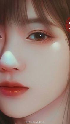 Cute Cartoon Girl, Anime Girl Cute, Anime Art Girl, Cartoon Art, Digital Art Girl, Digital Portrait, Portrait Art, Lovely Girl Image, Cute Girl Wallpaper