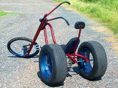 ator phat ass chopper trike is a laid back and cool cruiser that takes things to the extreme with extended springer forks and a set of massive rear Tricycle Bike, Trike Bicycle, Bike Wagon, Ape Hanger Handlebars, Ape Hangers, Drift Trike Frame, Bike Frame, Bmx, Bicycle Engine