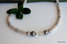 Items similar to Silver Beaded Snake Necklace / or Womans Designer Accessory on Etsy Snake Necklace, Pearl Necklace, Beaded Necklace, Silver Beads, Pearls, Handmade, Stuff To Buy, Etsy, Accessories