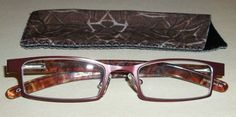 Foster Grant Bailey Rectangular Reading Glasses Compact Readers with Case +1.50