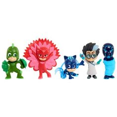 PJ Masks Collectible Figure Set - 5 Pack Image 1 of 8 Feather Cape, Toddler Christmas Gifts, Colored Ceiling, Ceiling Color, Toys Uk, Pj Mask, Fashion Room, Gifts For Kids, Ninja