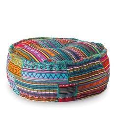 Look at this Rainbow Patchwork Floor Cushion on #zulily today!