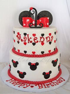 Minnie Mouse Birthday Cake. So trying this soon to make ;-)