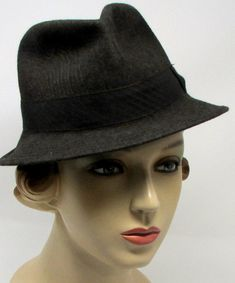 fa35047d2c6 Vintage Italian Fedora Barsalino Cappelleria Colonna Roma Hat Brown Hat  Size 4 1 2 or 7 US Mens Perfect size for ladies Brown with Stitching