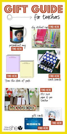 gift ideas for teachers | How Does She...