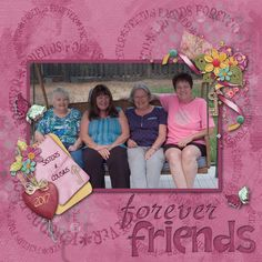 Sisters and cousins make great long time friends! From my recent trip my sister and 2 cousins. Done with Kathryn Estry's Friends for Life Bundle https://www.pickleberrypop.com/shop/product.php?productid=53164&page=1