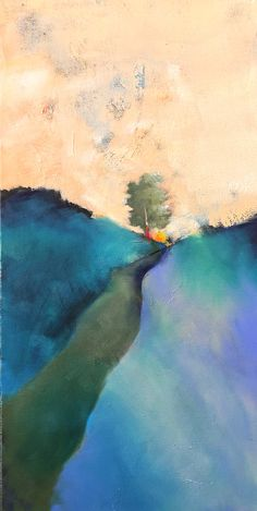 Contemporary Landscape, Abstract Landscape, Disability Art, Be Perfect, Paths, Landscapes, Presents, Memories, Oil