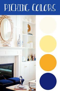 Choosing paint colors is a lot more than just picking a shade you like. Each room requires different considerations when picking an overall color scheme. House Color Schemes, House Colors, Wall Colors, Paint Colors, Colours, Wall Design, House Design, Interior Decorating, Decorating Ideas