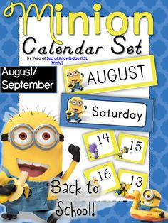 This pack is a minion themed calendar card set. I have created this to be used in math centers, classroom decor or for any teaching center. $ Sea of Knowledge