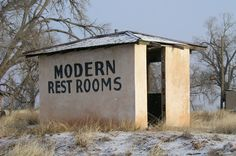 Modern Restrooms at a long closed motel in what was Endee, New Mexico.