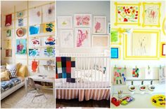 If your fridge is overrun with your children& daily masterpieces, rethink your place of display with one of these clever ideas. Kids Study, Art For Kids, Kids Art Storage, Kid Spaces, Living Spaces, Laundry Room Art, Playroom Ideas, Home Decor Inspiration, Getting Organized