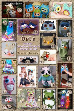 40 Outlandish Owl Attire including hats, props & more - Part B – via @beckastreasureswith @OombawkaDesign| 3 Owl Animal Crochet Pattern Round Ups!