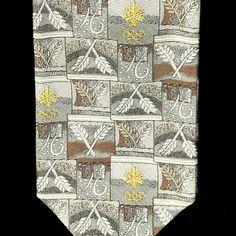 Robert Talbott Necktie Exclusively for Salt Lake 2002 Olympics. Silk Tie, Hand Sewn in USA. 57.5 x 4.