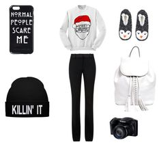 Christmas Eve by champayne-wheeler on Polyvore featuring polyvore fashion style Victoria Beckham Topshop Rebecca Minkoff clothing