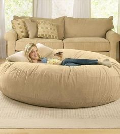 The love sac. Totally want one of these! Perfect for movie watching and cuddling