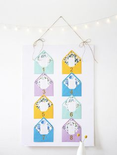 Pockets of Love DIY Seating Chart