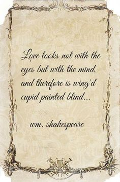 Shakespeare ~ A Midsummer Nights Dream