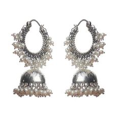 Silver Jhumka Earrings | Offer Active Since: 06 Sep, 2013 Offer Details: Silver Jewellery Indian, Indian Earrings, Silver Jewelry, Antique Earrings, Sterling Silver Earrings, Antique Jewelry, Wedding Accessories, Wedding Jewelry, Oxidised Jewellery