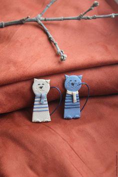 Купить или заказать Кот. Брошь. в интернет-магазине на Ярмарке Мастеров. Весенний котик. Брошь. Из цветной полимерной глины. Цена указана за одного. Броши легкие приятные на ощупь.…