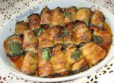 involtini-alla-norma Side Dish Recipes, Raw Food Recipes, Veggie Recipes, Cooking Recipes, Healthy Recipes, Zucchini Side Dishes, Vegetable Dishes, Susan Recipe, Vegan Junk Food