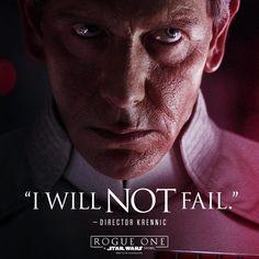 Failure is NOT an option. #RogueOne #movies #topmovies #gameofthrones #harrypotter #starwars #startrek #aliceinwonderland