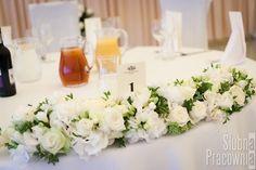 Dekoracje na stole Pary Młodej   Decorations on the bride and groom's table