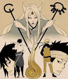 Kaguya Otsutsuki — Indra & Ashura Otsutsuki - Sasuke & Naruto
