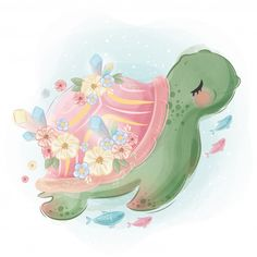 Cute Bunny Playing In The Watercan Baby Animal Drawings, Cute Drawings, Cute Images, Cute Pictures, Baby Animals, Cute Animals, Baby Posters, Watercolor Animals, Flower Watercolor
